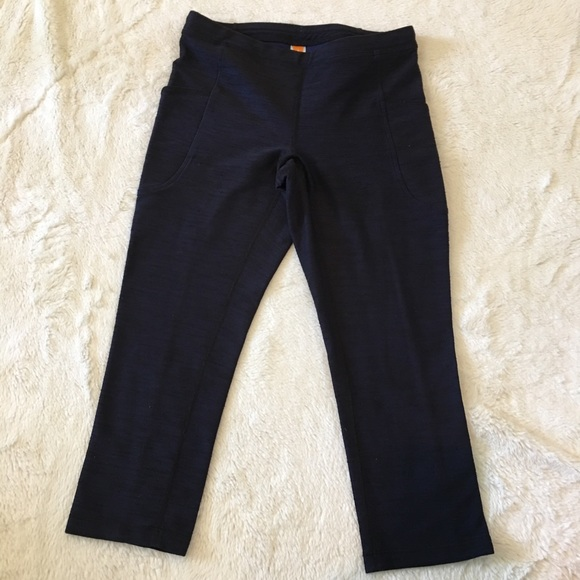 b04a13bd4c85 Lucy Pants | Blue Side Pocket Crop Leggings Small | Poshmark